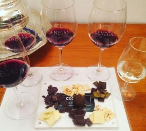 degustacion de vino y chocolate