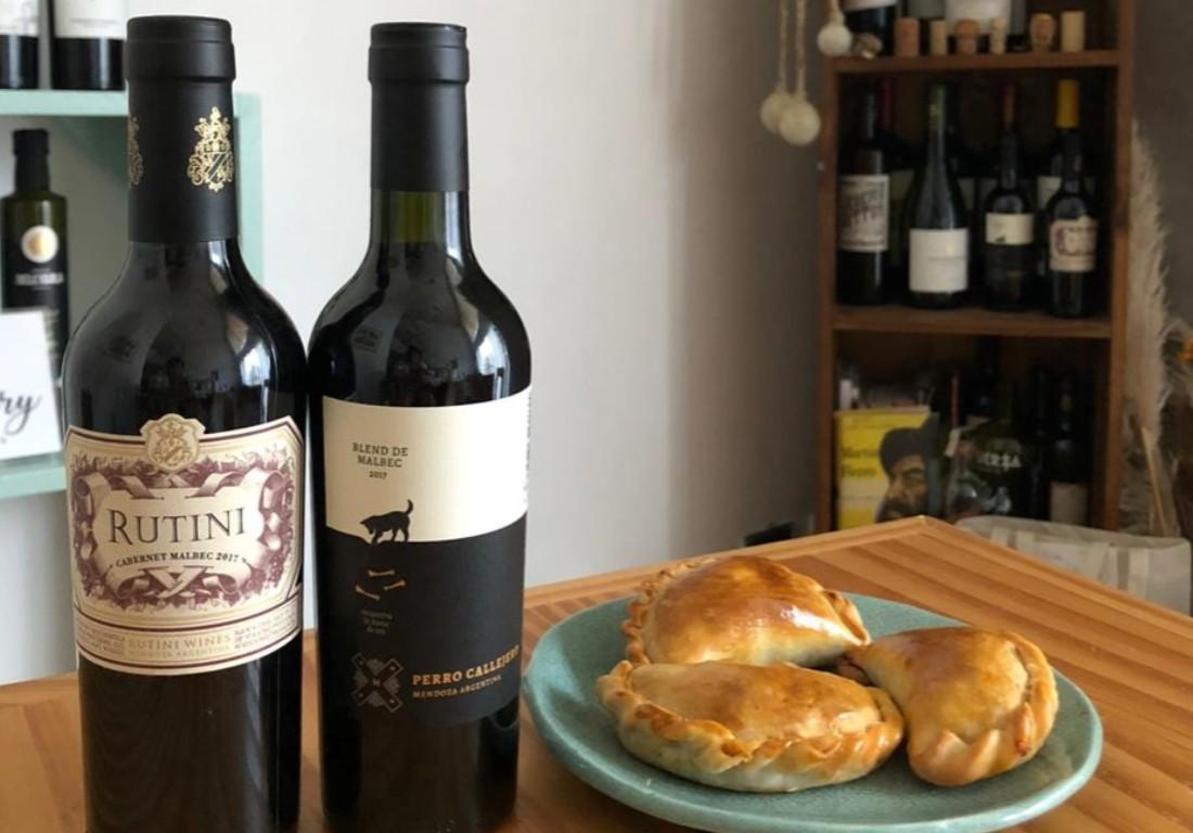 paquete vinos y empanadas